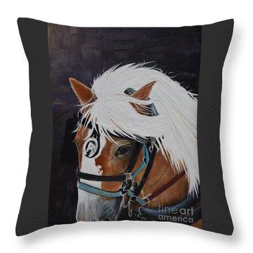 Amos - Haflinger - Horse Throw Pillow