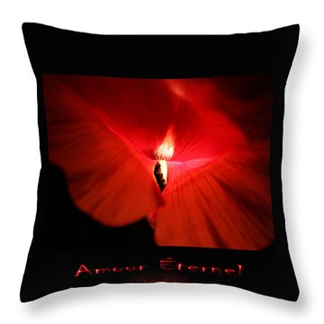 Amour Eternel Throw Pillow by Martina  Rathgens