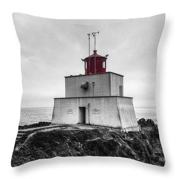 Amphitrite Point Lighthouse Throw Pillow