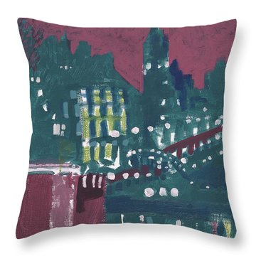 Amsterdam At 4am Throw Pillow by Jerry W McDaniel