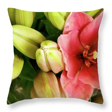 Throw Pillow featuring the photograph Amsterdam Buds by KG Thienemann