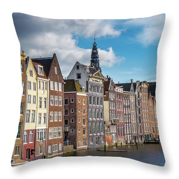 Amsterdam Buildings Throw Pillow