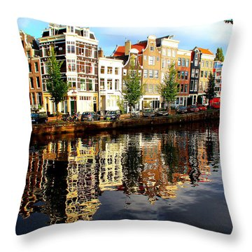 Amsterdam By Day Throw Pillow