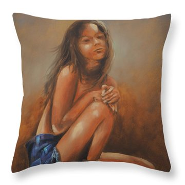 Amsterdam Girl Throw Pillow