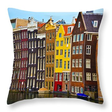 Amsterdam Throw Pillow by Harry Spitz