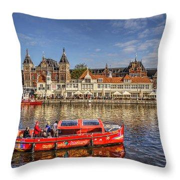 Amsterdam Waterfront Throw Pillow