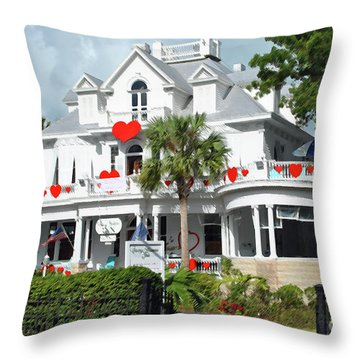 Throw Pillow featuring the photograph Amsterdams Curry Mansion Inn by Jost Houk