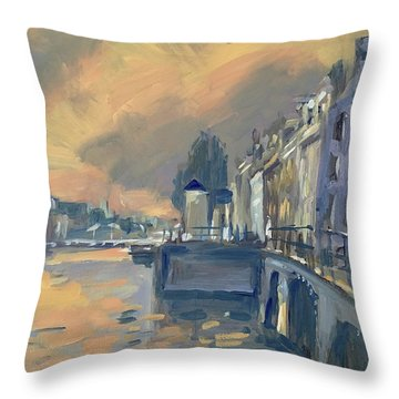 Amsterdm Morning Light Amstel Throw Pillow
