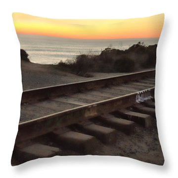 Amtrak On The Pacific Throw Pillow