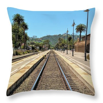 Amtrak Station, Santa Barbara, California Throw Pillow