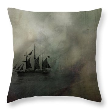 Throw Pillow featuring the digital art Amundsen And Fram by Andy Walsh
