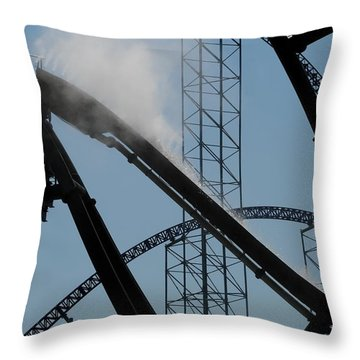 Amusement Park Abstract Throw Pillow by Frozen in Time Fine Art Photography