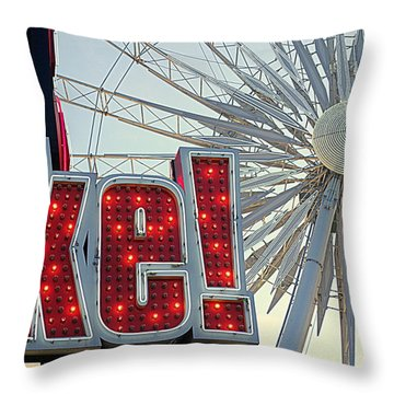 Throw Pillow featuring the photograph Amusement by Valentino Visentini