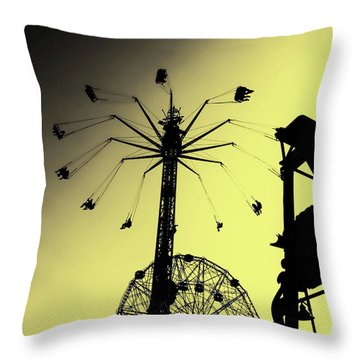Amusements In Silhouette Throw Pillow