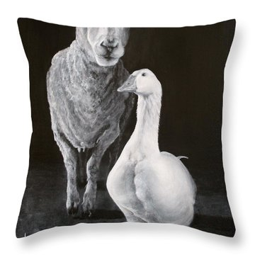 Amy And Gracie Throw Pillow
