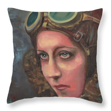 Amy Johnson Throw Pillow