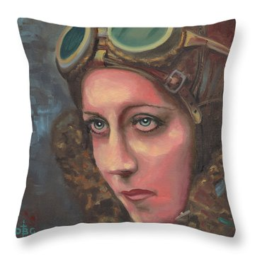 Amy Johnson Throw Pillow