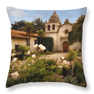 Amy's Carmel Throw Pillow by Sharon Foster