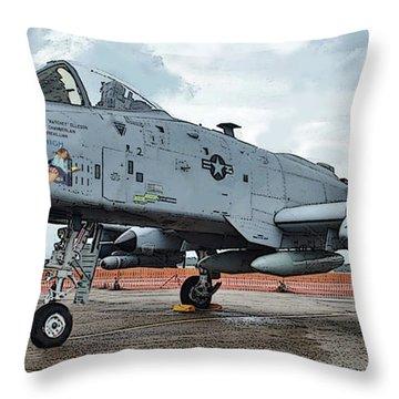 Amy's Jet 6800 Throw Pillow