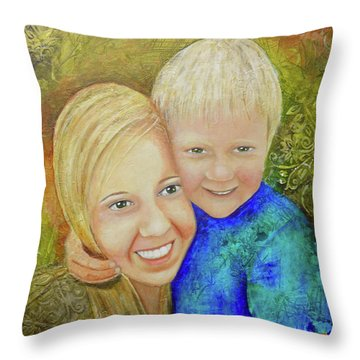 Amy's Kids Throw Pillow by Terry Honstead