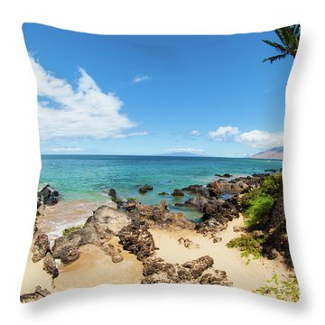 Throw Pillow featuring the photograph Amzing Beach In Hawaii Islands by Micah May