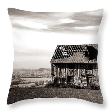 An Abandoned Farmhouse In Normandy Throw Pillow
