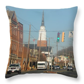 An Aberdeen Afternoon Throw Pillow