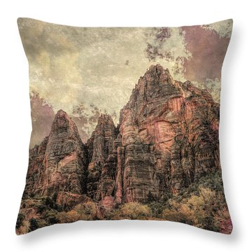 Throw Pillow featuring the photograph An Abstract Of Zion by John M Bailey
