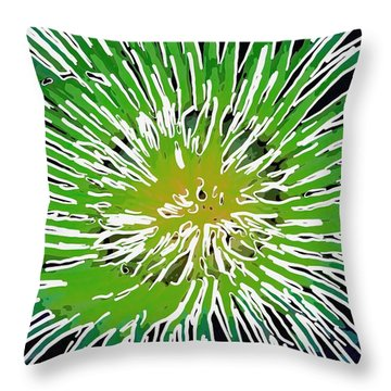 An Abstract Scene Of Sea Anemone 2 Throw Pillow by Lanjee Chee