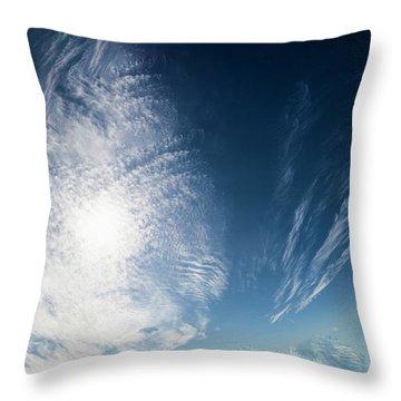 An Abstract Sky Throw Pillow