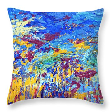 An Abstract Vision Under The Sea Throw Pillow