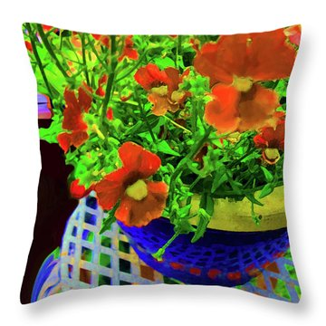 Lots Of Blooms Throw Pillow