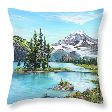 An Afternoon Adventure Throw Pillow by Joe Mandrick