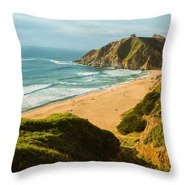 An Afternoon At The Beach Throw Pillow