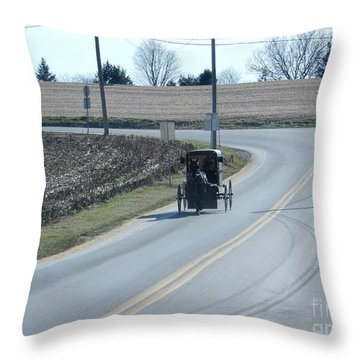 An Afternoon Buggy Ride Throw Pillow