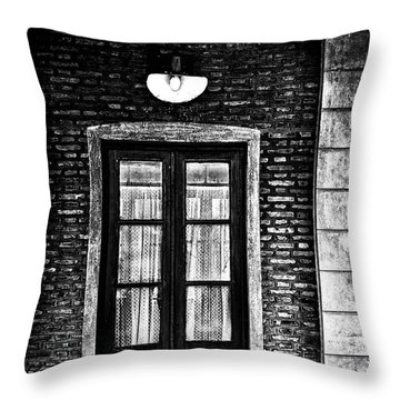 An Aged Restaurant In Gouin Throw Pillow