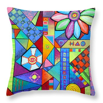 An All Seeing Eye Throw Pillow by Jeremy Aiyadurai