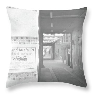 An Alley To A Backstreet Throw Pillow