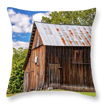 An American Barn 2 Throw Pillow