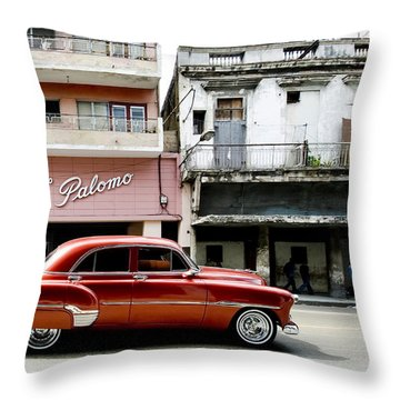 Throw Pillow featuring the photograph An American In Havana by Denis Rouleau