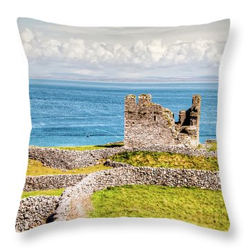An Ancient Irish Castle Throw Pillow
