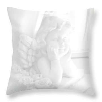 Throw Pillow featuring the photograph An Angel Awaits by Beauty For God