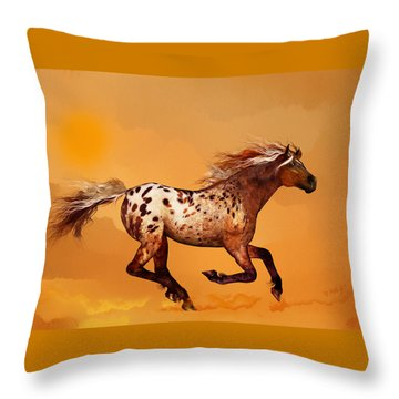 An Appaloosa Called Ginger Throw Pillow