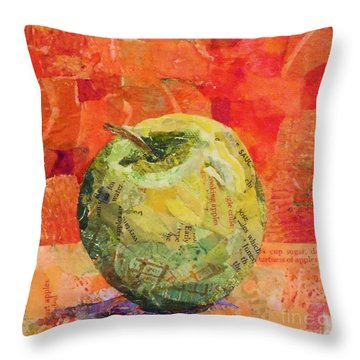 An Apple For Granny Throw Pillow