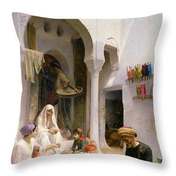 An Arab Weaver Throw Pillow by Armand Point