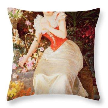 An Array Of Beauty Throw Pillow by Oreste Costa