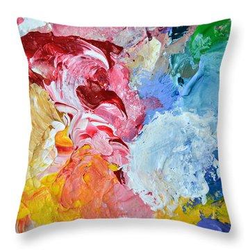 An Artful Blend Throw Pillow