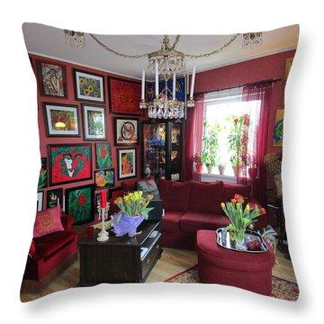 An Artists Livingroom Throw Pillow