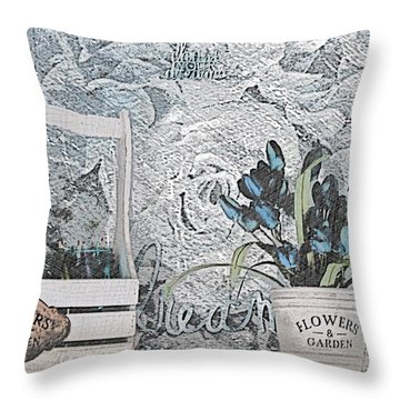 An Artist's Shelf Throw Pillow