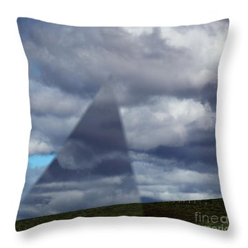 An Aspect Of Time Clouds Dimension Throw Pillow by Wernher Krutein